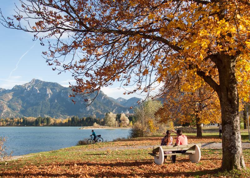 Forggensee in Füssen im Allgäu