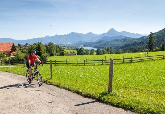 Radfahren im Allgäu von Füssen-Weissensee über Pfronten zum Alatsee